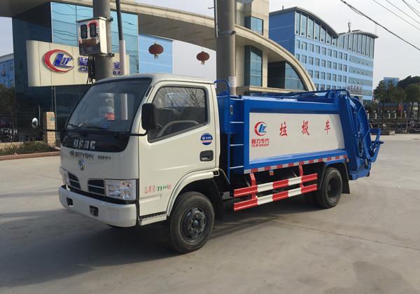 东风4方蓝牌地下室压缩式垃圾车